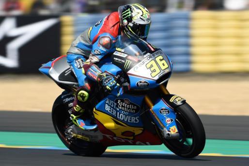 El mallorquín Joan Mir, durante la sesión de clasificación del Gran Premio de Francia de Moto2.