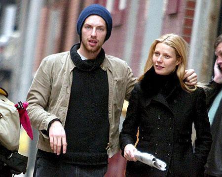 La actriz Gwyneth Paltrow y el músico Chris Martin llevan ocho años como pareja.