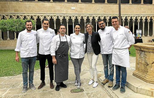 Josep Clar, Matíes Miralles, Rodrigo Vallejo, María Salinas, Esperança Nadal, José Cortés y Javier García.