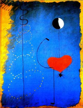 Dibujo de la bailarina de Miró.