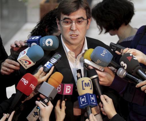 Francesc Antich, durante la rueda de prensa de hoy.