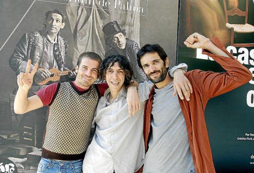 Moisés Díaz, David Peralta y Clever Albertoni Goos, ayer en el Auditòrium.