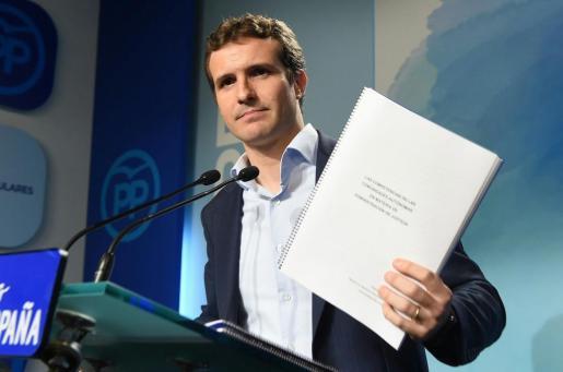 Pablo Casado opina este viernes sobre la moción de censura.