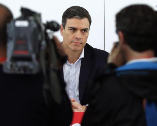 El secretario general del PSOE, Pedro Sánchez, ha ofrecido una rueda de prensa para explicar los motivos que le ha llevado a presentar una moción de censura contra Rajoy.