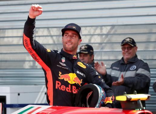 Daniel Ricciardo, celebrando su clasificación.