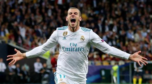 Gareth Bale, celebrando su segundo gol.