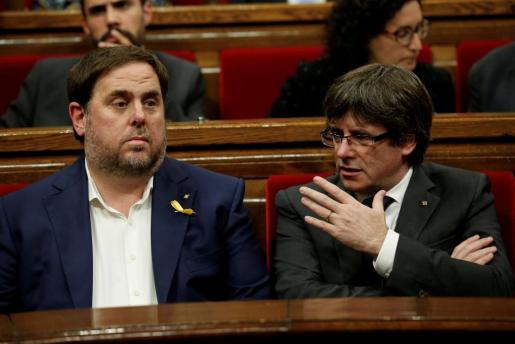 Junqueras afirma que la prioridad era hacer «un gobierno efectivo para superar el 155 y empezar a planificar la Cataluña del mañana».