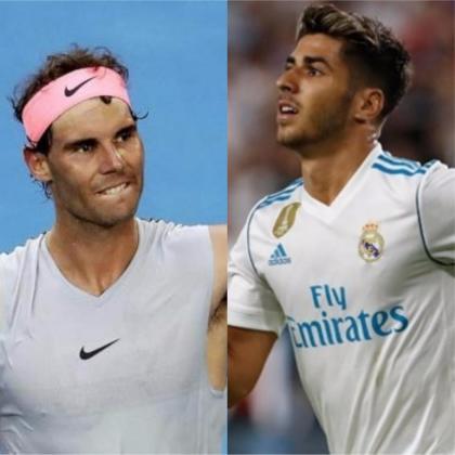 Los mallorquines Rafa Nadal y Marco Asensio.
