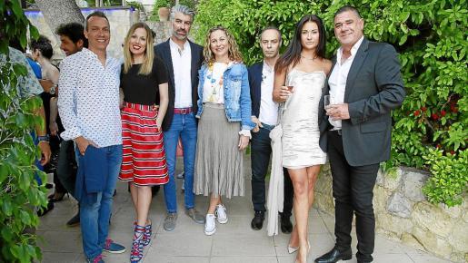 Xisco Moll, Aina López, Cristian Godoy, Ganí López, Xisco Tortella, Kate Nahibina y Jesús Bleda.