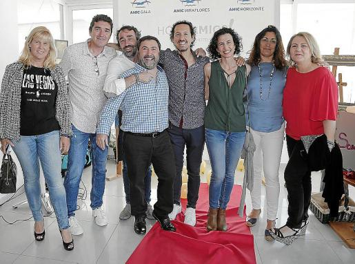 Alex Frail, Joan Pericàs, J. Miquel Fabregat, Jaume Campins, Peter Estela,  Jeni Montané, Berta Cornell y Teresa Melià.