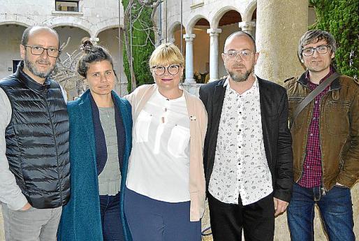Rafel Bestard, Ana del Valle, Queta Socías, David Campaner y Jaume Jiménez.