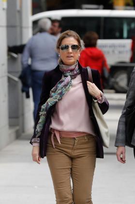 Rosalía Iglesias, mujer del extesorero Luis Bárcenas, a su llegada a la Audiencia Nacional.