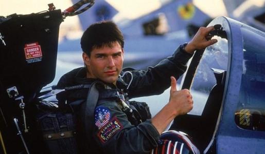 Tom Cruise durnate una escena de Top Gun.