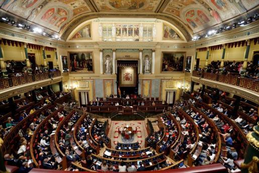 Intervención la mañana de este jueves de Mariano Rajoy ante la Cámara Baja.