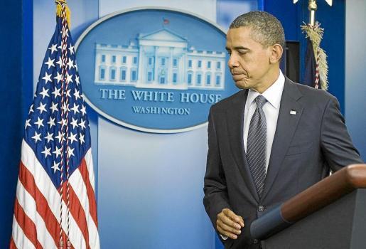Comparecencia de Barack Obama en la que ayer dio carpetazo a la guerra de Irak.