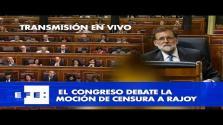 Segundo día de la moción de censura en el Congreso de los Diputados