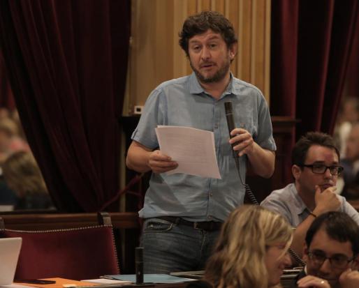 El portavoz de Podemos en el Parlament, en una imagen de archivo.