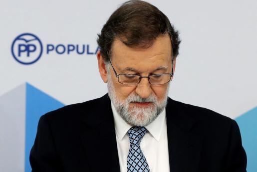 El líder del PP, Mariano Rajoy, durante la reunión del Comité Nacional del partido.