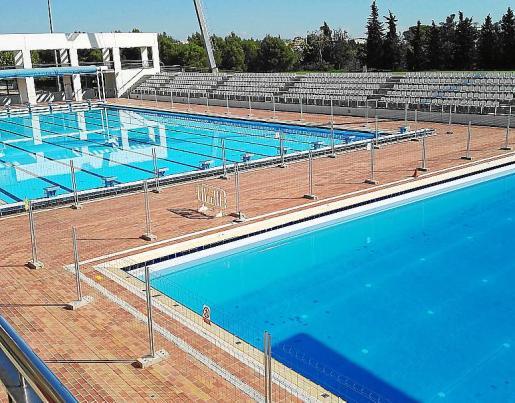 Imagen de las piscinas exteriores de Son Hugo.