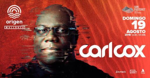 Carl Cox será el colofón del festival Origen.