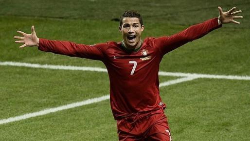 Cristiano Ronaldo celebra un gol con la selección de Portugal.