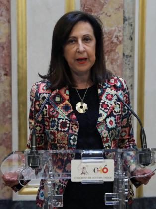Fotografía de archivo tomada el 31 de mayo de 2018, de la portavoz del PSOE en el Congreso y exmagistrada del Tribunal Supremo, Margarita Robles, que será la ministra de Defensa del Gobierno de Pedro Sánchez.