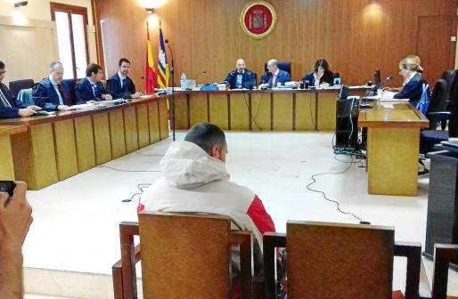 El acusado, este miércoles, durante el juicio celebrado en la Audiencia Provincial de Palma.