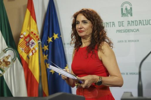 La consejera de Hacienda y Administración Pública de la Junta de Andalucía, María Jesús Montero, nueva ministra de Hacienda del Gobierno de Pedro Sánchez.