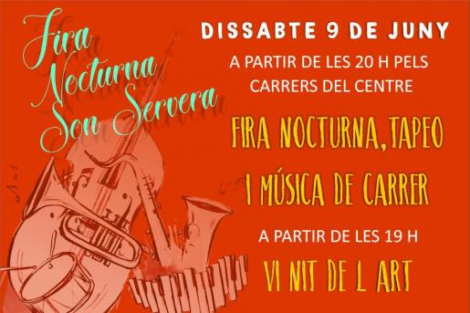La Fira Nocturna de Son Servera y la Nit de l'Art regresan a Son Servera el 9 de junio.