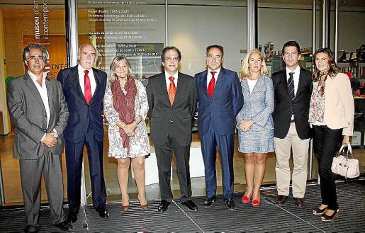 Rogelio Araújo, Antonio Escámez, Isabel Cerdà, Rafel Bosch, Ignacio Alcaraz,  Irene San Gil, Fernando Gilet y Maria Romeu.