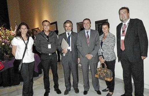 Malú Llompart, Juan Manuel Quetglas, Ferrán Rodés, Pere Rotger, Carmen Serra y Antoni Pons.