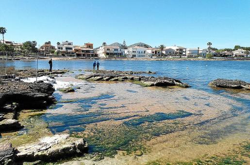 Imagen del vertido de lodos a la bahía que se produjo el pasado mes de mayo.