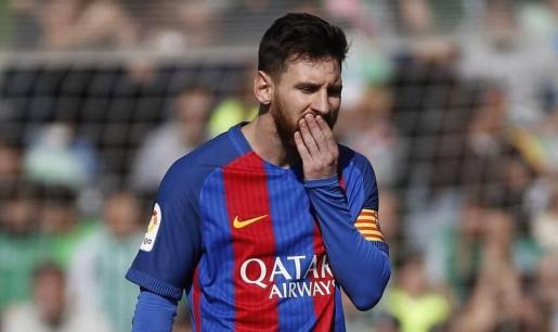 Messi, en una imagen de esta temporada