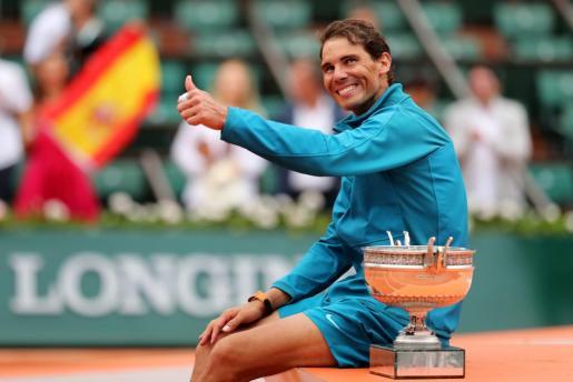 Rafa Nadal, exultante con su undécimo Roland Garros