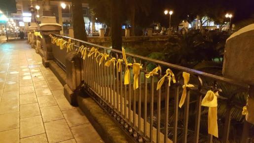 Lazos amarillos en sa Riera.