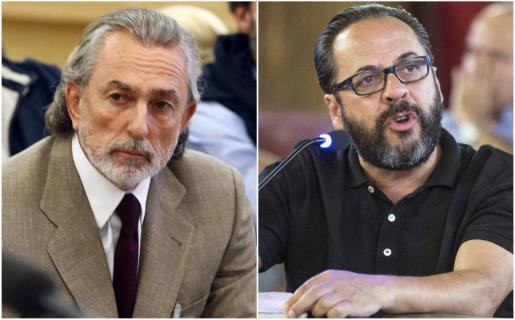 La Audiencia Nacional ha condenado a 5 años y tres meses de prisión para el presunto líder de la Gürtel, Francisco Correa (izda), y a 6 años y 9 meses para el responsable de la red en Valencia, Álvaro Pérez, El Bigotes, por su participación en la financiación irregular del PP valenciano.