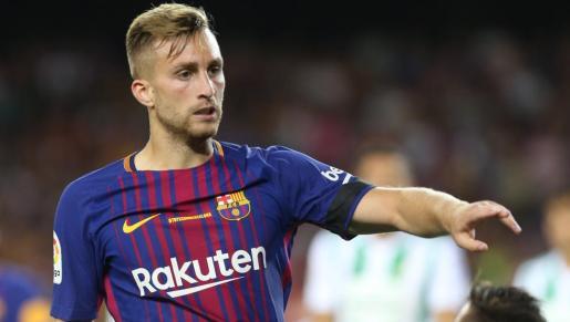 Gerard Deulofeu, con la camiseta del Barcelona. El futbolista catalán ha sido traspasado al Watford inglés por 13 millones de euros.