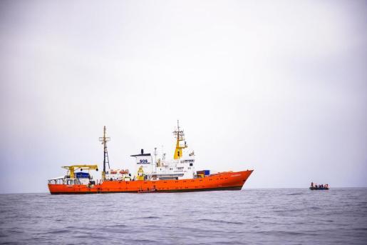 "El barco ""Aquarius"" de la ONG francesa SOS Méditerranée en una foto de archivo."