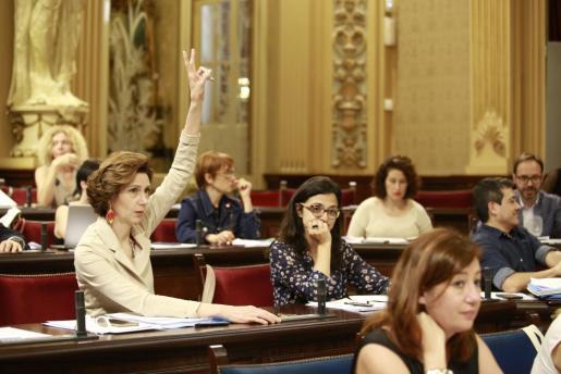Un momento de la sesión del Parlament balear.