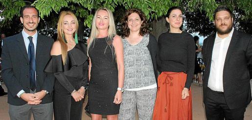 Pablo Juan, de Rafa Nadal Academy; Natalia Stepanova, Svetlana Poliansknia, Marta Flores y Rosa Romagosa, de El Corte Inglés, y Stanislav Lazarov.