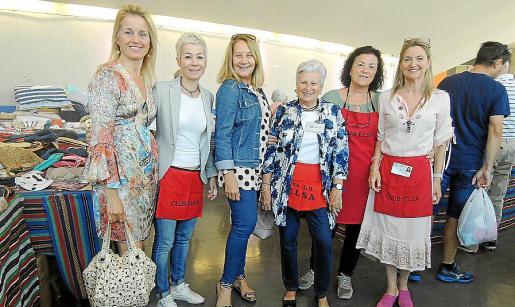 María Dolores Caldentey, Luisa Hernández, Águeda Ropero, Kica Martorell, Lola Ollero y María José Llaneras.