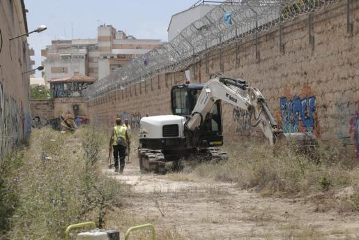 Inicio de las obras en la antigua prisión de Palma.