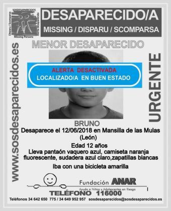 Cartel de la desactivación de la búsqueda de Bruno.