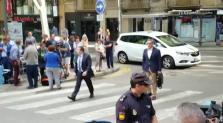 Diego Torres, llegando a la Audiencia de Palma