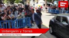 Urdangarin y Torres, llegando a la Audiencia de Palma.