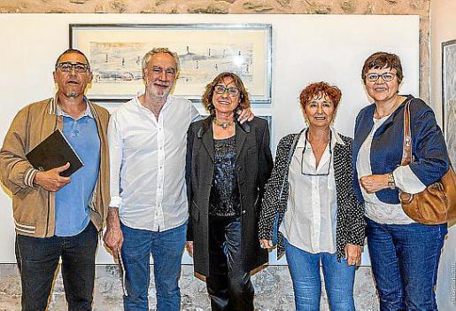 Andreu Aguiló, Miquel A. March, Pilar Cerdà, Catalina Bota y Aina Aguiló.