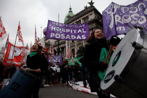 La aprobación del proyecto para legalizar el aborto se ha llevado a cabo en un clima de enfrentamiento.