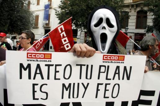 """El lema de la concentración ha sido """"Mateo tu plan es muy feo""""."""