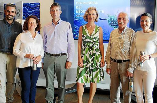 Pep Lluís Cobos, Antonia Mascaró, Marcos Marí, Heidi Staedler, Antonio Rullán y Silvia Rullán.