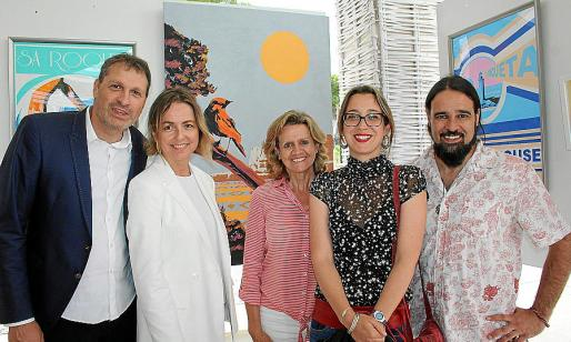 Sebastià Adrover, Margalida Clar, Marga Lledó, Aina Cañellas y Llorenç Garrit.